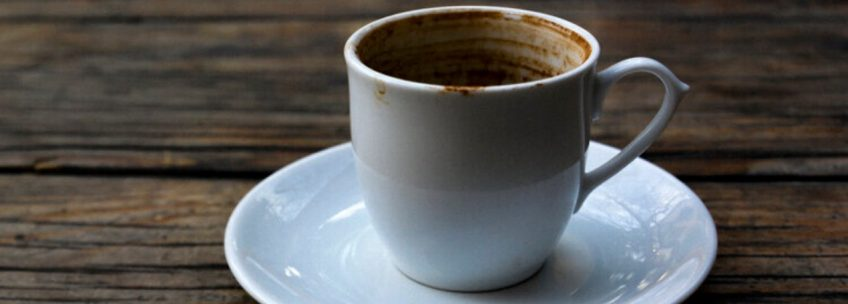 demitasse coffee cup and saucer for coffee cup readings.