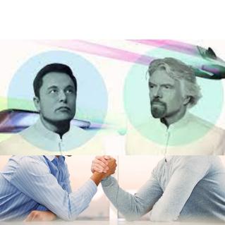 Richard & Elon collage